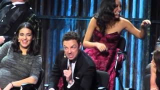 ross marquand aaron doing impressions twd premiere at msg