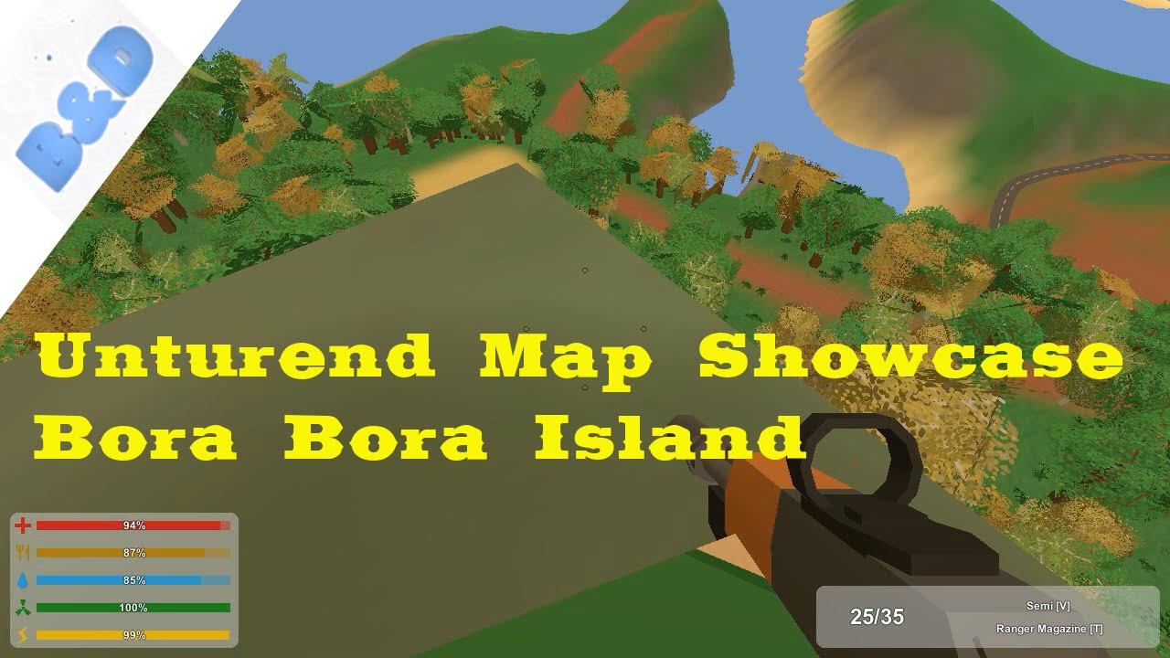 Unturend Map Showcase 7 Bora Bora Island