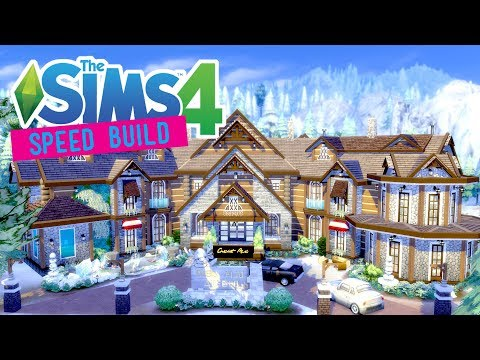 The Sims 4 - Speed Build - Alpine Lake Hotel & Spa - (Part 1/2) - No CC