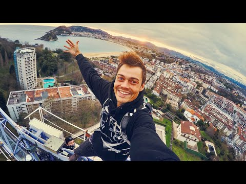 Highest point in San Sebastián | Crane climb
