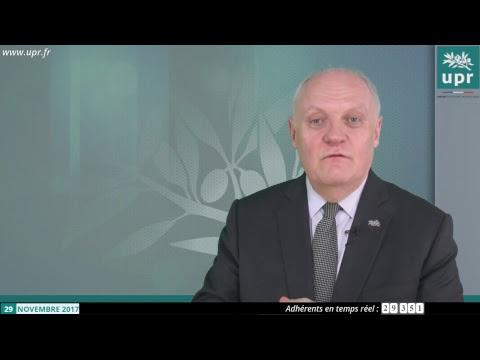 Entretien de François Asselineau en direct sur YouTube et Facebook - 29 novembre 2017