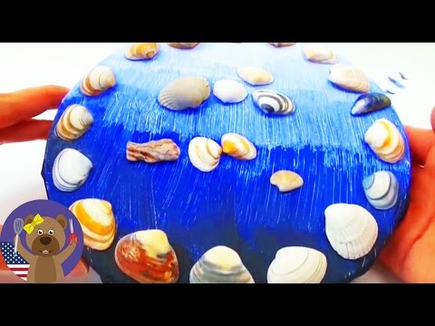 DIY CANVAS SHELLS TUTORIAL: Make A Canvas Painting Using Shells - Simple Decoration Trick