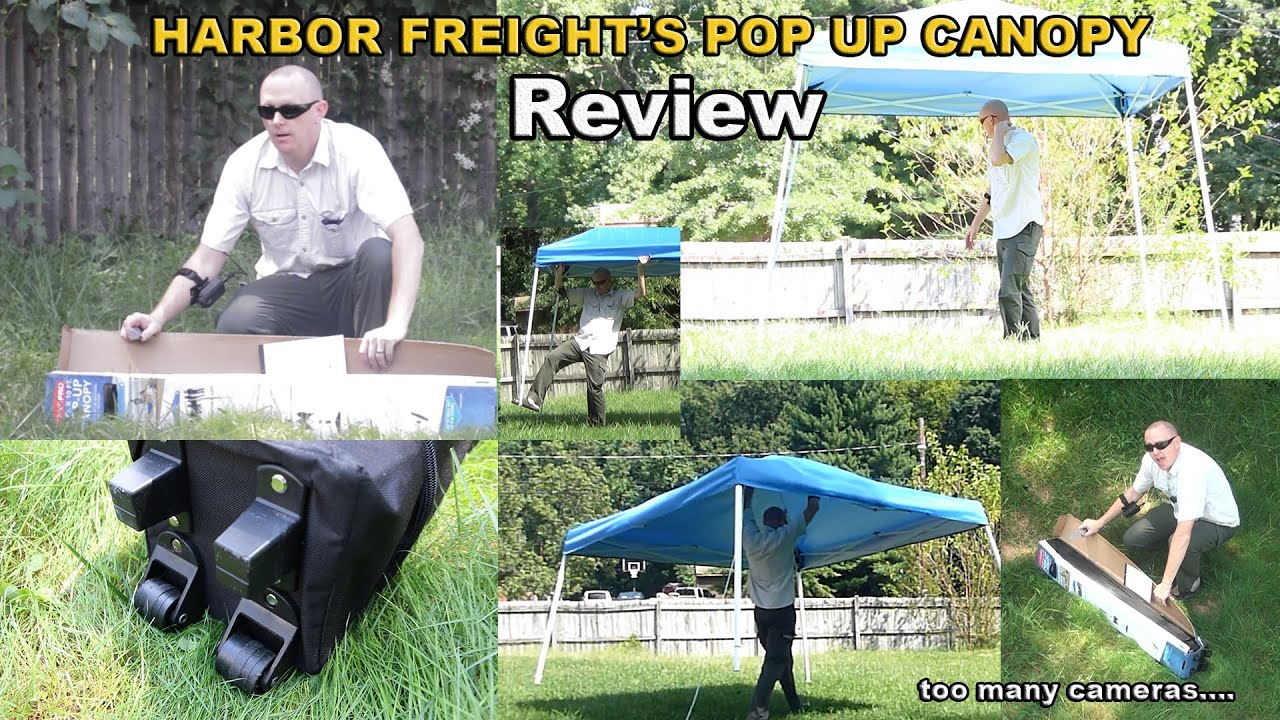 Harbor Freight Pop Up Canopy review - coverpro & Harbor Freight Pop Up Canopy review - coverpro - YouTube