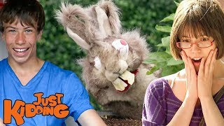 Mystic Pie Fights, Stomach Pain, & Rabid Bunnies | Best of Just Kidding Pranks