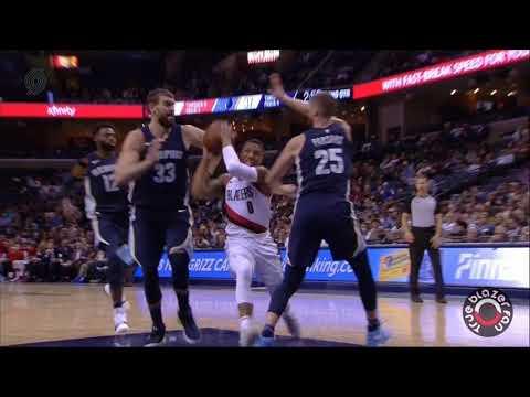 Portland Trail Blazers vs Memphis Grizzlies - Full Game Highlights - November 20, 2017