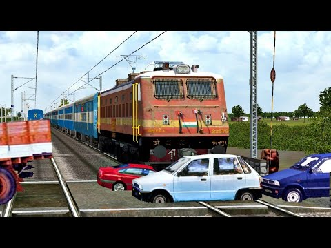 Crazy Vehicles STOPS the Train at Unmanned Level Crossing Indian Railways in Indian Train Simulator