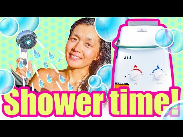 Shower time in the van! / Installing Eccotemp L5 Portable Shower