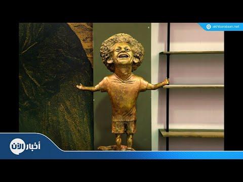 منافسة بين الفنانين لنحت تمثال محمد صلاح  - 11:57-2018 / 11 / 11