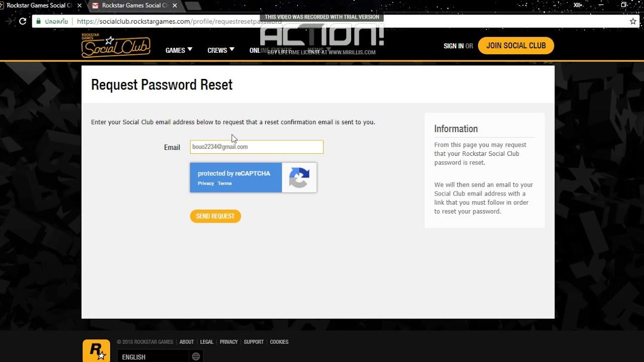 rockstar password reset not working