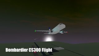 French Jet Bombardier CS300 Flight [] ROBLOX