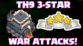 Clash of Clans 3-STAR TOWN HALL 9 CLAN WAR ATTACK STRATEGY | BEST RIGHT NOW?