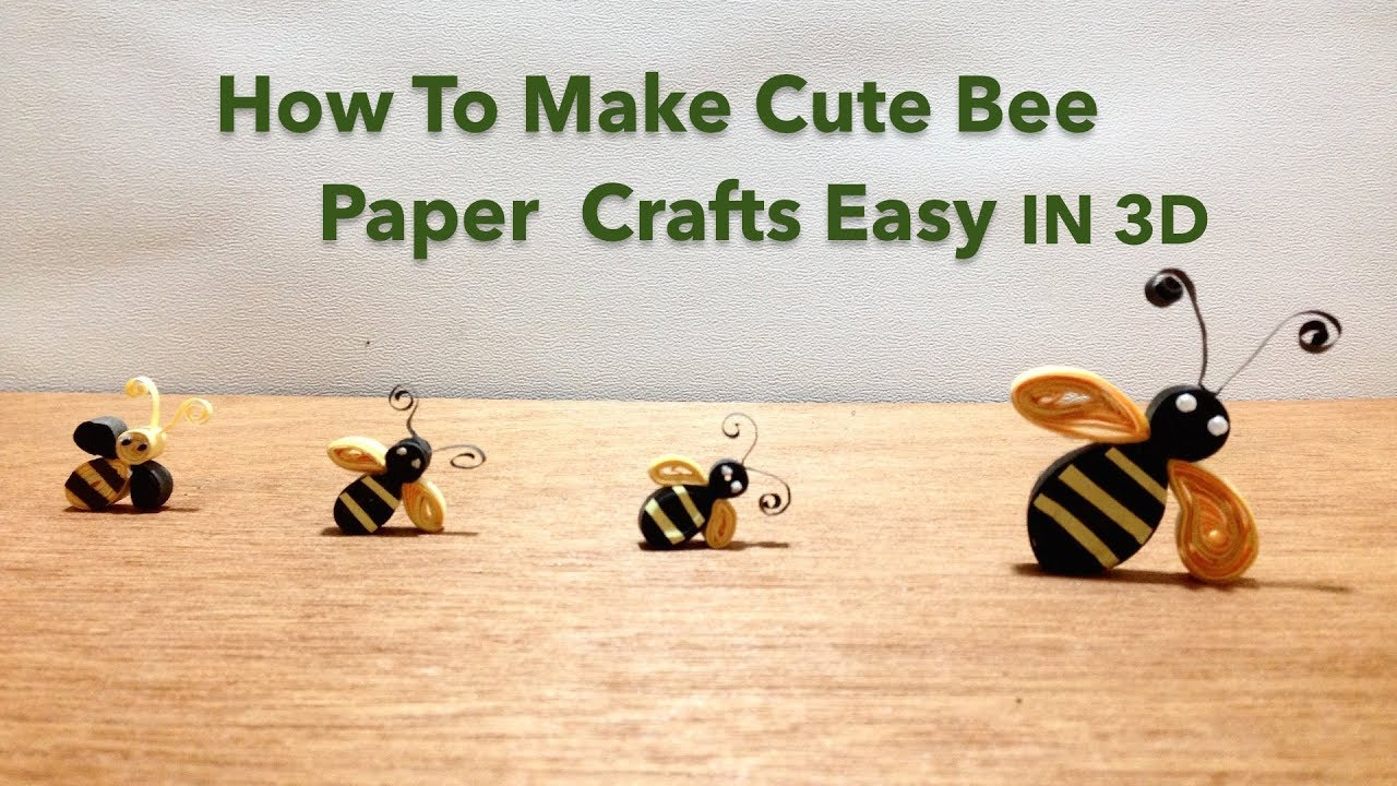 Diy Quilling Art How To Make Origami Bee Paper Easy Origami Bees
