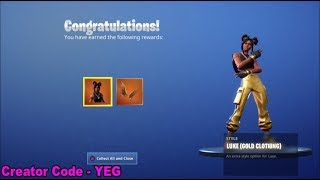 LIVE *NEW* UNLOCKING GOLD LUXE FASTEST WAY POSSIBLE on Fortnite Battle Royale Season 8
