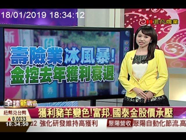美國銀行獲利亮眼 台灣壽險卻大虧損/全球新觀點20190118