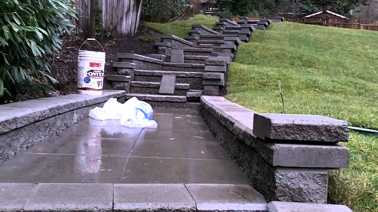 Nort Vancouver Allan Block Stairs And Granit Wall Youtube