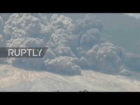 Indonesia: Scores of people evacuated as Mount Sinabung blasts volcanic ash in latest eruption