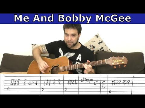 Fingerstyle Tutorial: Me and Bobby McGee - Guitar Lesson w/ TAB