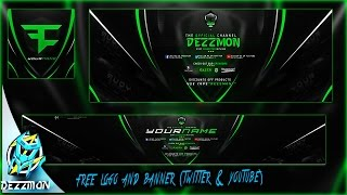 free logo and banner template (youtube and twitter)