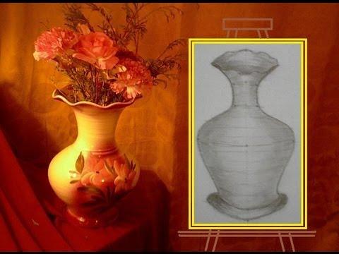 Comment dessiner en perspective 9 20 un vase en 3d youtube - Dessiner un vase ...