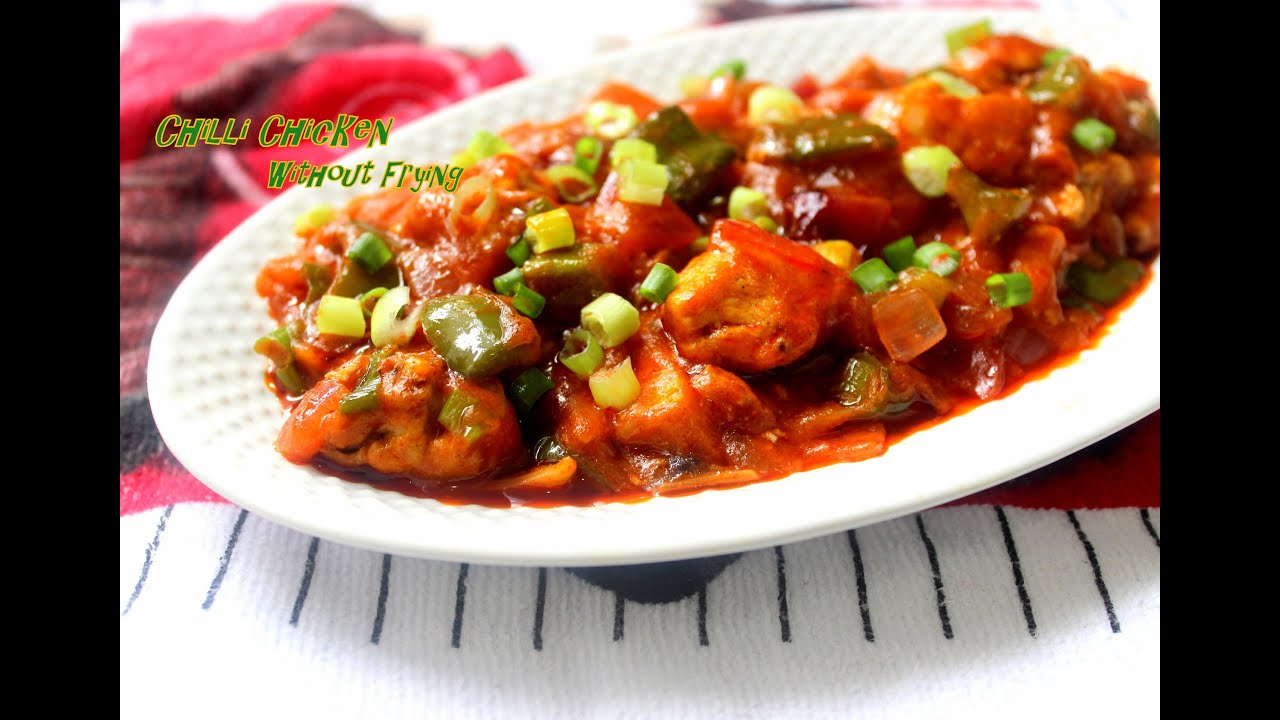 Chilli chicken no fry recipe youtube forumfinder Image collections