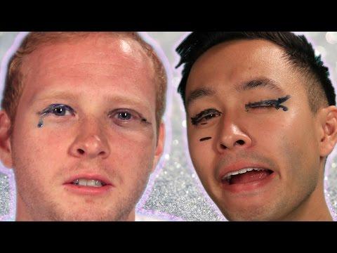 Men Try Liquid Eyeliner