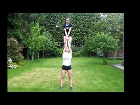 acro 2 gym yoena en fien  youtube