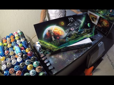 Darth Vader spray paint art