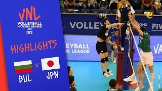 BULGARIA vs. JAPAN - Highlights Men | Week 3 | Volleyball Nations League 2019