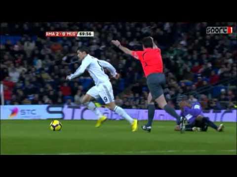 Cristiano Ronaldo Red Card vs Malaga