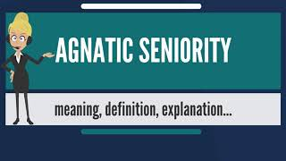 What is AGNATIC SENIORITY? What does AGNATIC SENIORITY mean? AGNATIC SENIORITY meaning & explanation