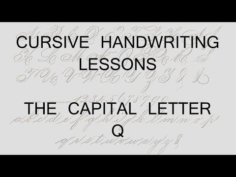Number Names Worksheets : capital letters in cursive writing ...