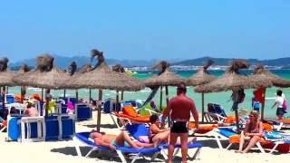 mallorca playa de muro beach  summer time in the beach 2016.06.08