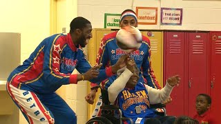 109-Year-Old Woman Parties With Harlem Globetrotters
