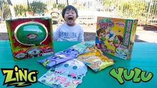 Surprise Toys from YULU Watermelon Smash Tic Tac Tongue Game and Zing Glove A Bubbles Toy Review