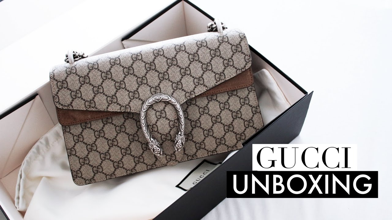 e8784f23b7c Gucci Dionysus Designer Bag Unboxing + First Impression - YouTube