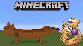 Minecraft CatDog Statue