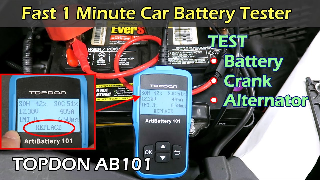 Car battery charging and cranking system analyzer