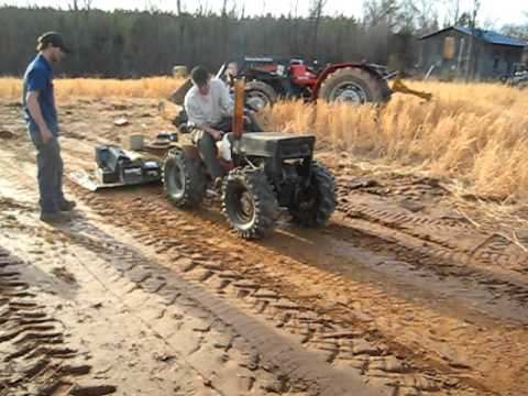 Pulling lawn tractor sears custom 4x4 FIRST TEST PULL YouTube