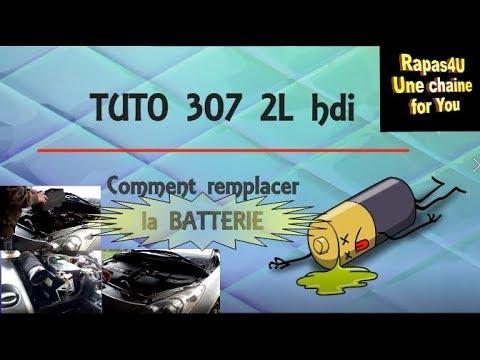 tuto comment changer batterie peugeot 307 2l hdi aide conseil diy rapas4u youtube. Black Bedroom Furniture Sets. Home Design Ideas
