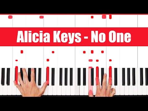 No One Alicia Keys Piano Tutorial - LICK