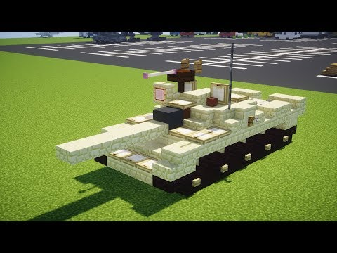 Minecraft Iraqi T-62 Soviet Main Battle Tank Tutorial