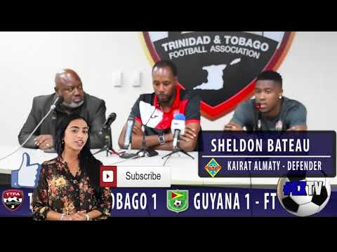 Trinidad  & Tobago 1 Guyana 1 - Sheldon Bateau post match comments!