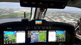 Landing first C90GTx with Proline Fusion at KFXE