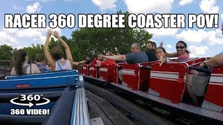 Racer Wooden Roller Coaster 360 Degree POV Kennywood Pittsburg PA