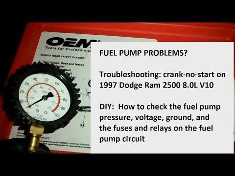 Dodge Ram V10 How to Check the Fuel Pump