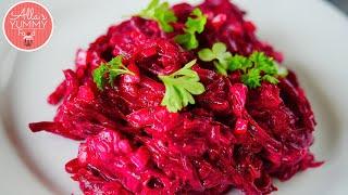 Russian Creamy Beetroot Salad Recipe - Beet Salad - Салат из свеклы