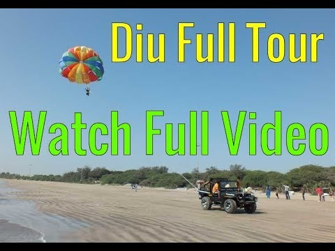Nagoa (Nagva)(નાગવા) Beach (Bich) Fun and Entertainment in Diu (Div) (दीव ) (દીવ), Gujarat, India