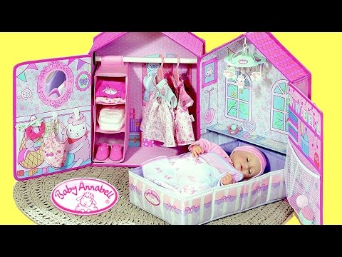 Thumbnail: Baby Annabell Bedroom - My Baby Annabell Doll sleeps in her New bed