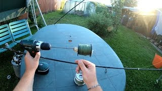 How to make easy line winder and despooler. Fishing line winder in Ultra HD