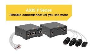 AXIS F44 à double entrée audio vidéo